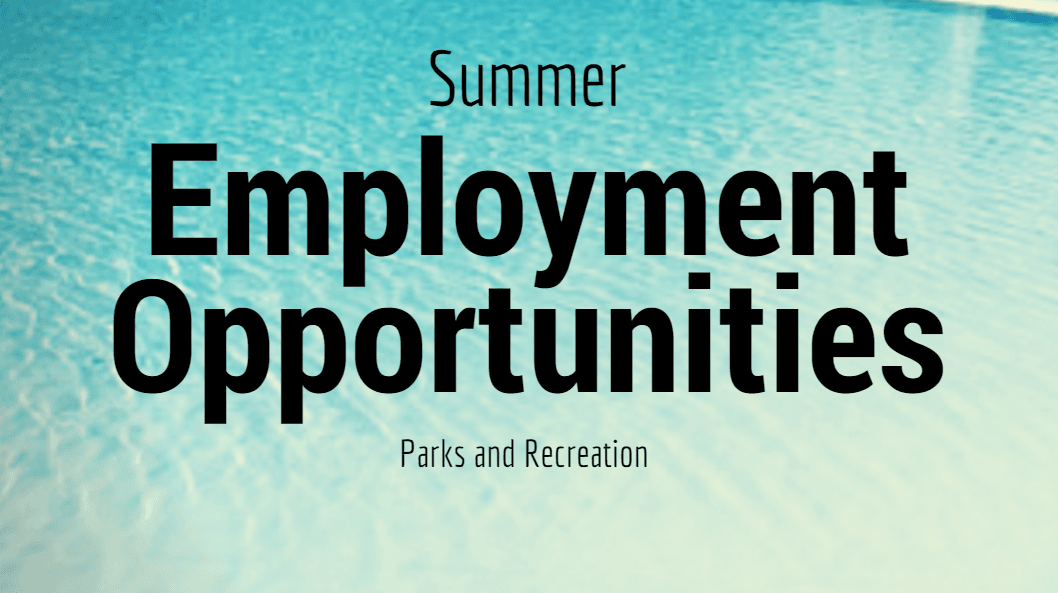 Summer Employment Opportunties nonslideshow