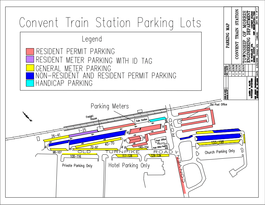 Convent Train Station Parking Map